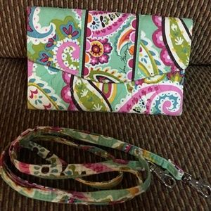 VERA BRADLEY Trifold Cotton Clutch XBody Wallet